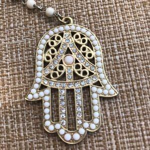 Jewelry - Long Chain With Hamsa Pendant